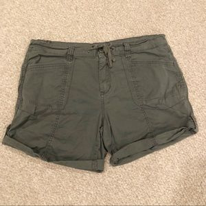 Supplies Army Green Roll Cuff Shorts